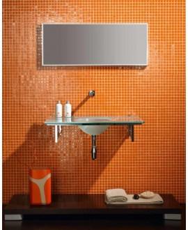 Emaux de verre salle de bain orange mosaique piscine mosmc-702 2.5x2.5cm sur trame.