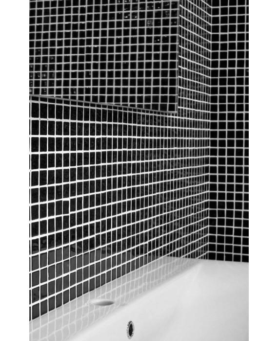 Emaux de verre noir piscine mosaique salle de bain crédence cuisine mosmc-901 2.5x2.5cm sur trame.