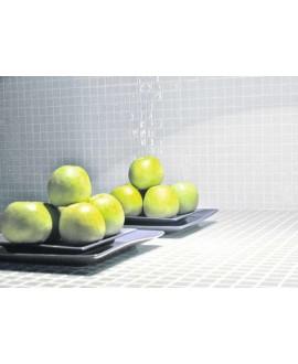 Emaux de verre blanc piscine mosaique salle de bain crédence cuisine mosmc-101 2.5x2.5cm sur trame.