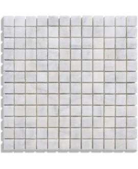 mosaique marbre blanc 2.3x2.3cm sur trame 30.5x30.5x1cm
