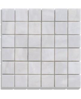 mosaique marbre blanc 4.8x4.8cm sur trame 30.5x30.5x1cm