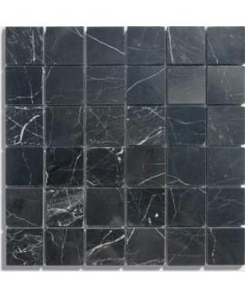 mosaique marbre noir 4.8x4.8cm sur trame 30.5x30.5x1cm