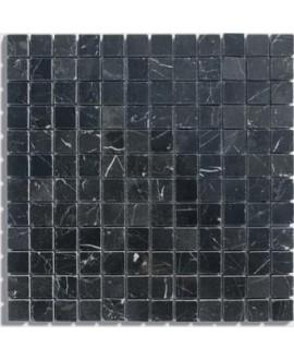 mosaique marbre noir 2.3x2.3x1cm sur trame 30.5x30.5x1cm