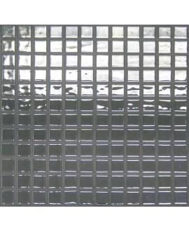 Emaux de verre aspect métal brilant mosaique salle de bain métalico platino 2.5x2.5 cm