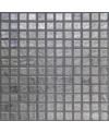 Emaux de verre aspect métal mosaique salle de bain métalico silver 2.5x2.5 cm
