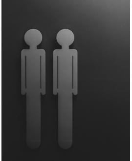 Sèche-serviette radiateur électrique design vertical salle de bain Antoreste silhouette homme noir mat 172x34cm