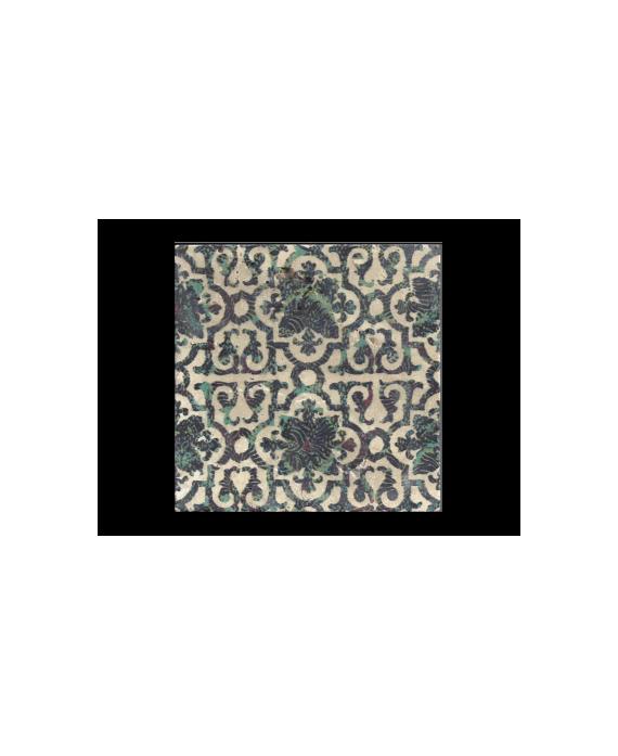 travertin décoré goa 20x20x1.2cm