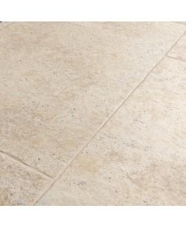 Carrelage imitation travertin clair nuancé mat 45.3x75.8cm, 61.3x61.3cm, 20x20cm, 6x30cm edimsénanque clair.