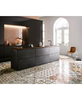 Carrelage décor imitation terrazzo granito poli brillant 60x60cm rectifié, santanewdeco patchwork