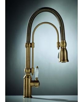 Mélangeur évier classique robinet style ancien couleur vieux bronze F7030BR