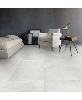 Carrelage imitation béton ou résine, 60x60x1cm rectifié, SD chalk mat