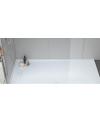 Receveur de douche Kore blanc avec caniveau en résine invisible avec bonde verticale