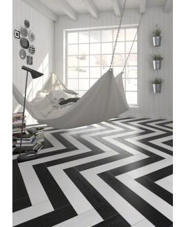 Carrelage imitation parquet moderne blanc, chambre, 21.8x89.3cm rectifié, V arhus blanc