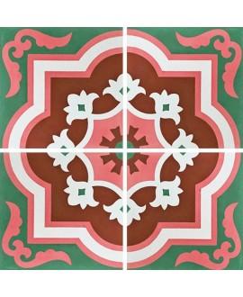 Carreau ciment véritable décor arabesque 7330-1 20x20cm