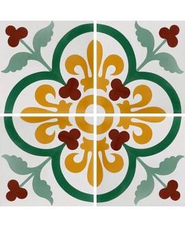 Carreau ciment véritable décor arabesque 7310-1 20x20cm