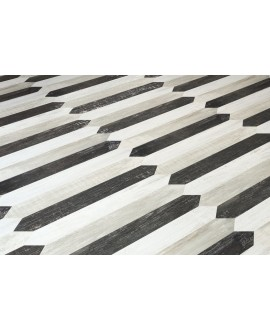 Carrelage imitation parquet moderne blanc, rectangle plank 9.8x50cm ou navette diamond 9.8x59.7cm apepalermo white