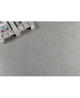 Carrelage rectangulaire gris clair satiné rectangulaire 9x36cm, hexagonal ou chevron sol et mur natconcret roma