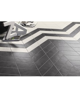 Carrelage rectangulaire blanc satiné rectangulaire 9x36cm, hexagonal ou chevron sol et mur natconcret londres