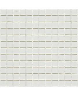 Emaux de verre blanc antidérapant pour les marches de la piscine mosaique salle de bain mosmc-101 2.5x2.5cm sur trame.