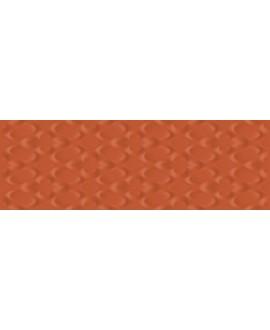 Carrelage moderne rouge corail mat en relief 25x75cm rectfié santaspringpaper 3d-01