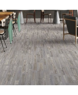 Carrelage imitation béton et bois gris mélangé mat 30x120cm et 30x180cm santafusion gris