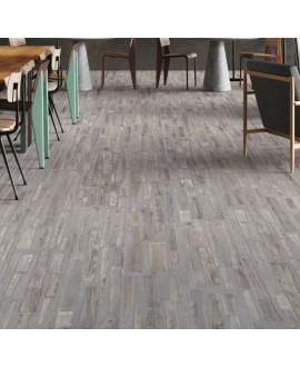 Carrelage imitation béton gris et bois gris mélangé mat 30x120cm et 30x180cm rectifié, sol et mur santafusion gris