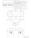 Vasque en céramique émaillée scateoreme 2.0 blanc et noir mat, à poser ou suspendu 141x46x14cm 5116