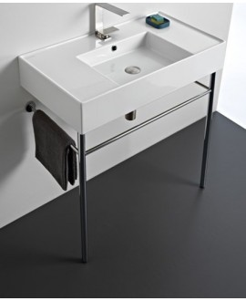 Console métallique noir pour vasque scateorema 2.0