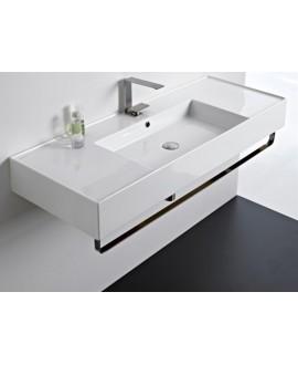 Porte-serviettes métalique noir mat pour vasque scateorema 2.0