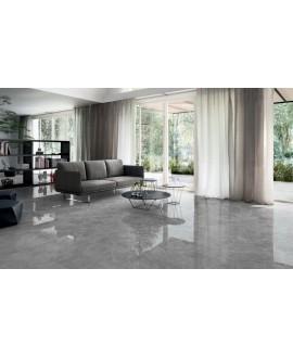 Carrelage imitation marbre gris poli brillant rectifié 60x60x1cm, salon, santagrigiosavoia