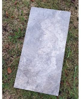 Dalle en pierre gris 61X40.6cm épaisseur 1.2cm et 3cm art travertin silver