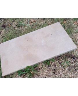 Dalle en pierre beige adoucie mat 60X40cm épaisseur 2cm artaza beige