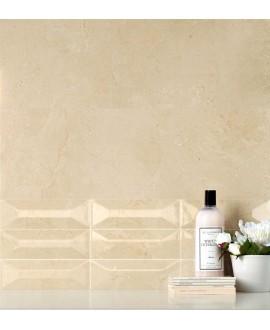 Carrelage imitation marbre beige poli rectifié 90x90x1cm, salle de bain, santacremarfil