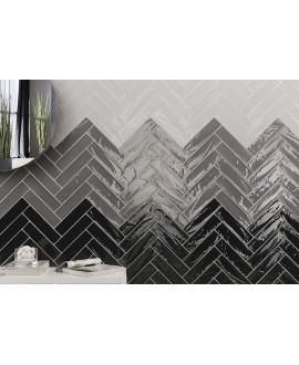 Carrelage imitation Zellige noir brillant bosselé 7.5x30cm et 7.5x15cm natemanhattan 11AV