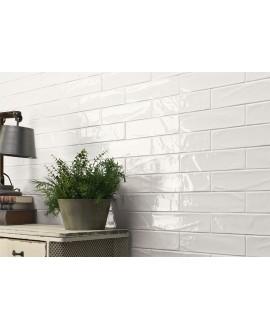 Carrelage imitation Zellige blanc brillant bosselé 7.5x30cm et 7.5x15cm natemanhattan 1AV