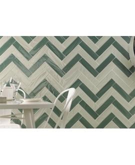 Carrelage imitation Zellige vert clair brillant bosselé 7.5x30cm et 7.5x15cm natemanhattan 5AV