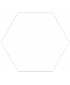 Carrelage hexagone blanc uni effet carreau ciment 25x22cm D capri blanc uni