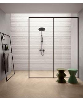 carrelage salle de bain parement mural santasetwall white 15x90 cm dans la salle de bains