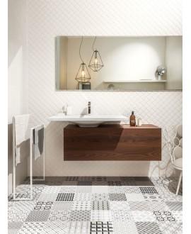 Carrelage salle de bain patchwork metrosign carreau ciment imitation contemporain 20x20x1cm rectifié