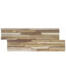Parement en bois naturel avec des morceaux de 2cm de large MO manaus2 20x49.5x2cm