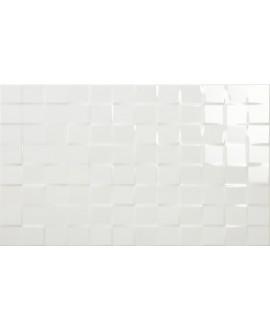 carrelage moderne mural geocubic blanc brillant 33x55cm