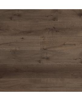 Parquet contrecollé en chêne verni foncé,  largeur 190 mm lacottage marron