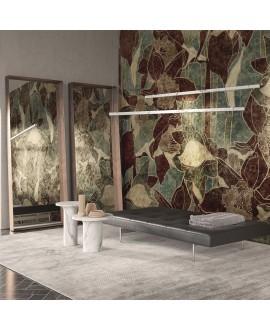 Papier peint en fibre de verre pour sol et murs de salle de bain WONDERLAND INKDPIJ2001, inspiration florale