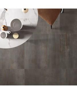 Carrelage imitation métal gris 60x60cm, 60x120cm, 80x80cm, 120x120cm flarebel lead