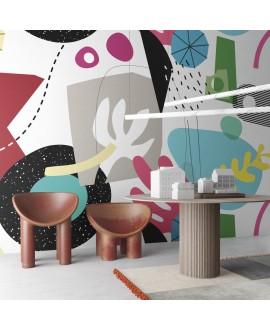 Papier peint en fibre de verre pour mur de salle de bain EASY_GAMES_INKAIAO2001, chambre enfant