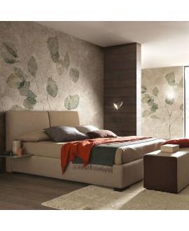 Papier peint en fibre de verre pour mur de salle de bain HORTOBOT_INKYJRD1901 feuille verte