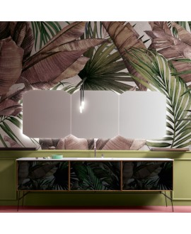 Papier peint en fibre de verre pour mur de salle de bain INKWOTO1901-1 perdu dans la jungle