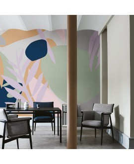 Papier peint en fibre de verre pour mur de salle de bain MESSY_JUNGLE_INKBDUZ1901 jungle