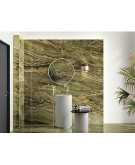 Carrelage imitation marbre vert poli brillant dénuancé rectifié 60x120cm, apemerald onix