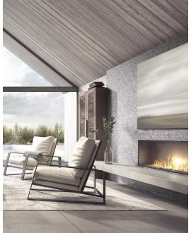 Emaux de verre rond imitation marbre gris et noir mat d:19mm sur plaque de 28.5x28.5cm sol et mur onipenny grafito mat